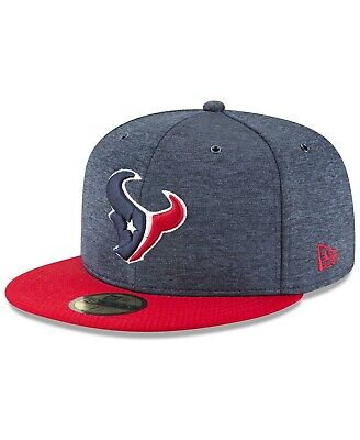 Houston Texans NFL On Field Sideline Home 59FIFTY FITTED Flat Bill Brim Cap Hat