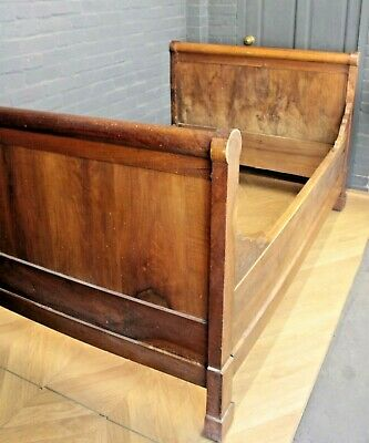Reclaimed Fruitwood 4 Foot Bed Sleigh Bed (Single Bed Double Bed Bed Frame)