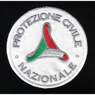 [Patch] Protection Civil Diameter 8 cm Embroidered Patch Embroidery Replica -251