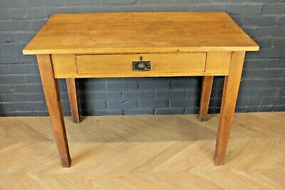 Antique Early 20th Century Golden Oak Side Table Hall Table Occasional Table