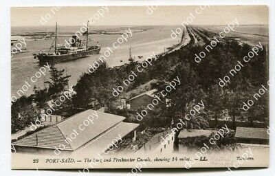 AK Port Said - The Suez and Freshwater Canals, showing 14 miles #1459