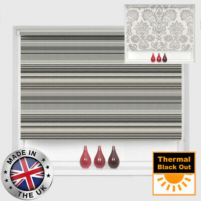 Mtm Made To Measure 100% Thermal Blackout Patterned Roller Blinds - Two Designs!