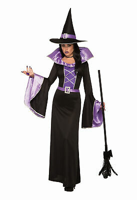 Fantasy Sorceress Costume Ladies Halloween Witch Fancy Dress Outfit