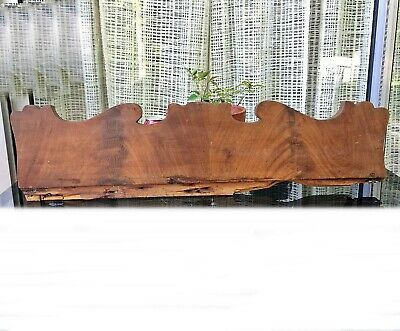 "Antique 1800's Crotch Mahogany PEDIMENT 27"" reclaimed salvage furniture board"