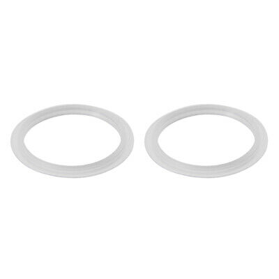 Silicone Kitchen Bathroom Strainer Washer Drain Gasket 36mm OD White 2Pcs