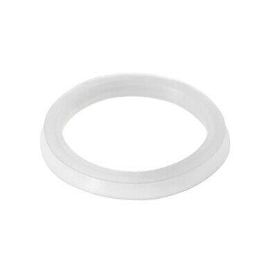 Silicone Kitchen Bathroom Strainer Washer Drain Gasket 41mmx34mmx4.5mm White