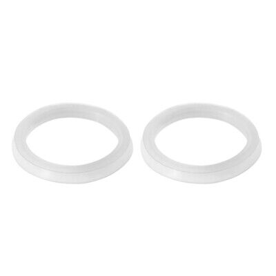 Silicone Kitchen Bathroom Strainer Washer Drain Gasket 43mmx34mmx4.5mm 2Pcs