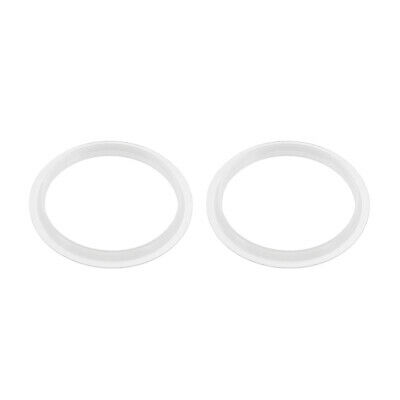 Silicone Kitchen Bathroom Strainer Washer Drain Gasket 38mm OD White 2Pcs