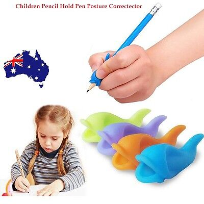 Children Pencil Holder Writing Hold Pen Wobi Grip Posture Correction  Tool x 4 C