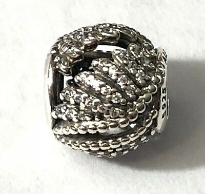 4c482aabb2424 PANDORA MAJESTIC FEATHERS Openwork Charm in 925 Sterling Silver ...