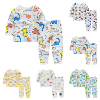 Children Sleepwear Long Sleeved Pajamas Stylish Sleepwear Bottoms Cool