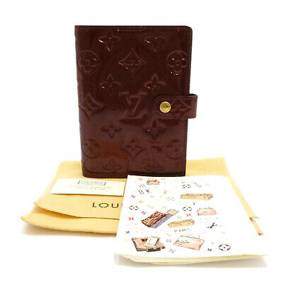Auth LOUIS VUITTON Agenda PM Day Planner Cover Rouge Fauviste R21072 #S307092