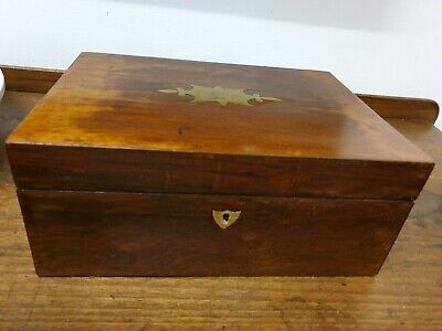 antique mahogany veneer jewlery BOX