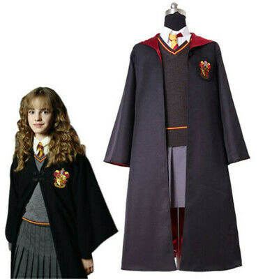 Hermione Granger Gryffindor Uniform Cosplay Costume Kid Adult Suit Outfit