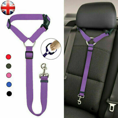Adjustable Pet Dog Travel Seat Belt Clip Lead For Car Safety Restraint U Harness