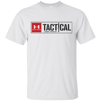 Under Armour Tactical Army Logo Vintage T-Shirt S-5XL MEN-WOMEN White