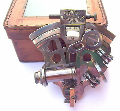 Details about  MARINE BRASS WORKING VINTAGE GERMAN NAUTICAL SEXTANT W/ LEATHER