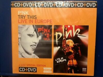 PINK Special Edition -  Try This  CD /  Live In Europe DVD
