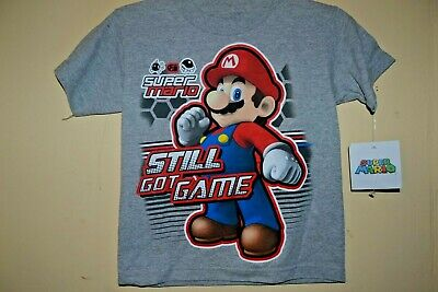 -LICENSED SHORT SLEEVE-NWT 5//6 MARIOKART 7 CHARACTERS-BOYS SIZE SMALL
