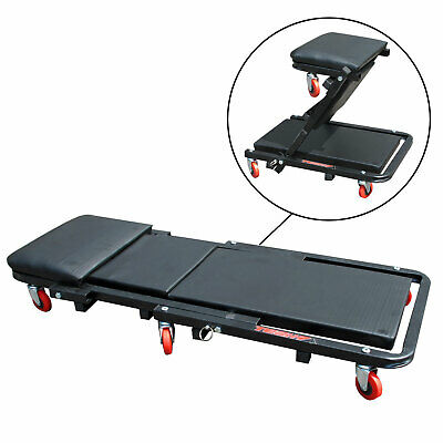 Mechanics Workshop Garage Creeper Board Rolling Crawler Stool Folding 6 Wheeled