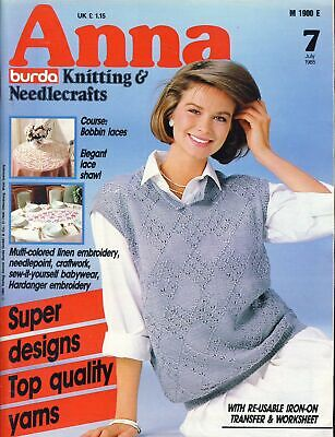 Anna Knitting Needlecrafts Magazine July 1985 Bobbin Lace ref021