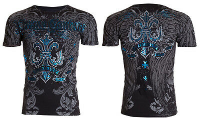 Xtreme Couture by Affliction Short Sleeve T-Shirt Mens SANDSTONE Black S-3XL NWT