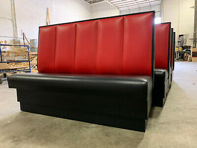 """Restaurant Booth Channel back design single and double 60""""Long x 42"""" high"""