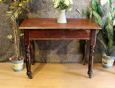 Antique Mahogany Top  Hall / Console / Side End  Table