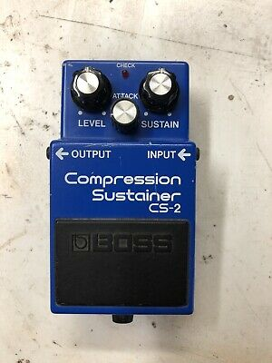 BOSS CS-2 Compression Sustainer guitar effects pedal.Made in Japan. RARE VINTAGE