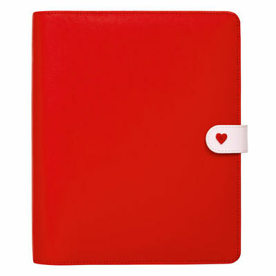 Brand New Large Kikki K Red & Pink Leather Planner, Journal, Diary