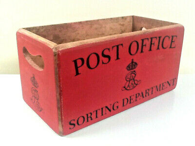 Large Post Office Storage Crate Vintage Style Letter Storage Box. Great Gift