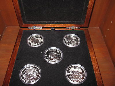 2013 *O Canada Set* 99.99% Pure Silver $25 1 Ounce Coins*5 Coins With Wooden Box