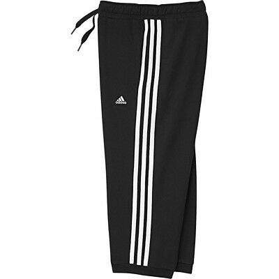 ADIDAS Girls Essential Cropped Trousers Black White Age 3-4 Years BNWT