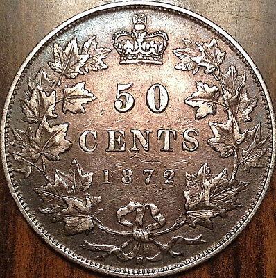 1872H CANADA SILVER 50 FIFTY CENTS - A good example!