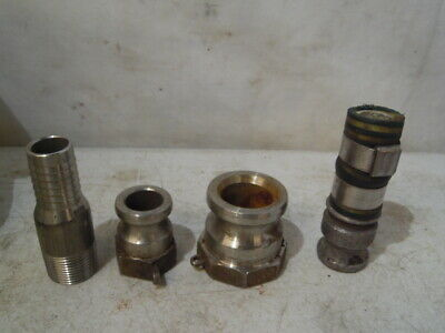 "4 Pc PT Mixed Lot Cam Lock 15-A Kamlok Male 1"" Hose Coupling Sanitary 316SS"