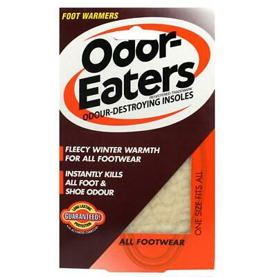 Odor-Eaters Odour Destroying Insoles Foot Warmers (One Size Fits All) Brand New