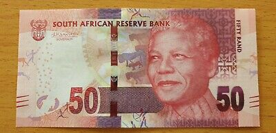 SOUTH AFRICA 50 Rand ND 2015 P140b Sign Kganyago Omron rings UNC Banknote