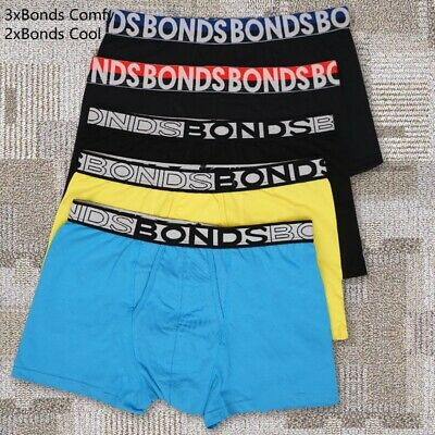 Clearance Sale 5 Pack Bonds Mens  Everyday&Bonds Cool™ Trunks Underwear M-XL