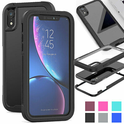 Hybrid Protection Hard Shockproof Case For iPhone XR XS Max XS X 8 7 6s 6 Plus