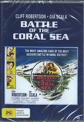 Battle Of The Coral Sea Dvd. 2010 .wwii . (Cliff Robertson ) New And Sealed .