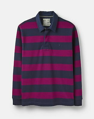 Joules 207007 Striped Rugby in NAVY PURPLE STRIPE