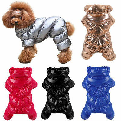 Winter Dog Warm Coat Waterproof Dog Apparel Puppy Clothes Jumpsuit Puppy Outfit