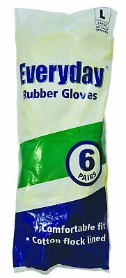 Everyday Large Catering Rubber Gloves - Pack of 6