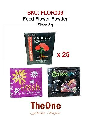 25 x 5g Floralife Oasis Universal Flower Food Sachets Clear