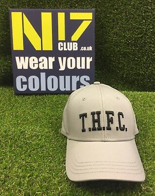 Tottenham Hotspur Thfc Grey Cap Adult Fit  *OFFICIAL THFC PRODUCT*