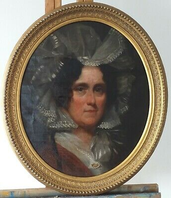 Georgian PORTRAIT OF A LADY. c1820. ENGLISH SCHOOL Oil Painting