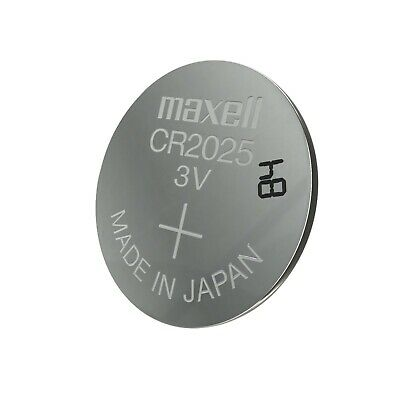 5 1 X Maxell CR 2025 Lithium Coin Cell Button 3V Battery Batteries Made in Japan