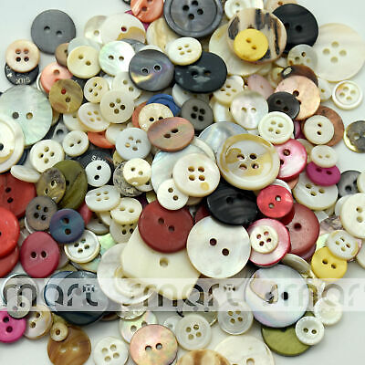 100PCS Mixed By Random Shell Buttons Craft Decoration 6-25mm