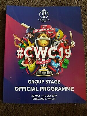 ICC CRICKET WORLD CUP GROUP STAGE OFFICIAL PROGRAMME 2019 - England & Wales