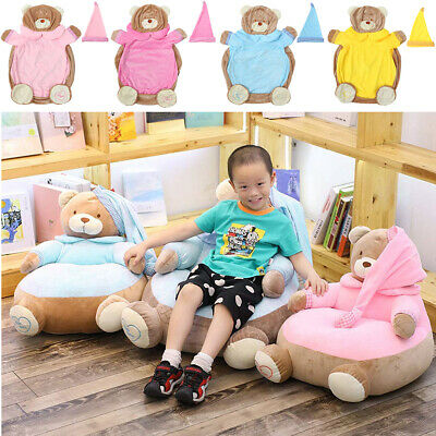 Cute Bear Kids Armchair Sofa Seat Stool Seating Relaxing Chair Cover Furniture